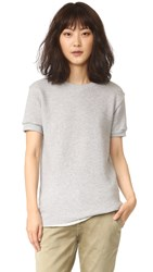 Chrldr Noir Short Sleeve Sweatshirt Heathered Grey