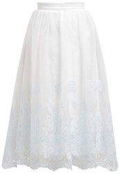 Chi Chi London Zena Aline Skirt White
