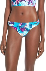 Roxy Women's Line It Up Print Bikini Bottoms