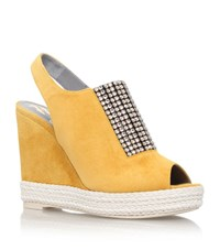 Gina Lua Crystal Wedge Female Mustard