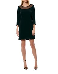 Laundry By Shelli Segal Mesh Accented Shift Dress Black