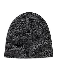 Vince Ribbed Marl Cashmere Beanie Black Combo