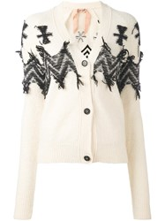 N 21 No21 V Neck Cardigan White