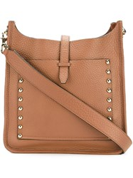 Rebecca Minkoff Studded Detail Crossbody Bag Brown