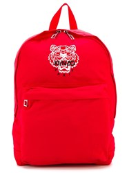 Kenzo 'Tiger' Backpack Red