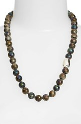Simon Sebbag Women's Stone Beaded Necklace Labradorite