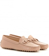 Tod's Gommini Patent Leather Loafters Beige
