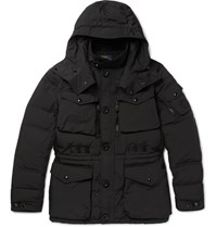 Polo Ralph Lauren Quilted Canvas Hooded Down Coat Black