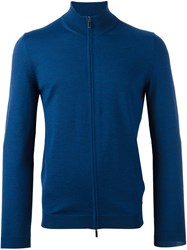 Hugo Boss 'Baldemario B' Zipped Cardigan Blue