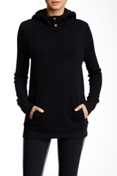 Alo Yoga Pullover Faux Shearling Lined Hoodie Black