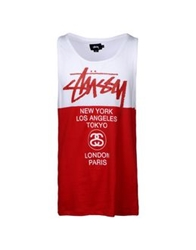 Stussy Tank Tops Red