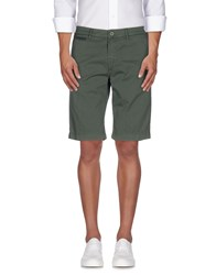 Manuel Ritz Trousers Bermuda Shorts Men Green