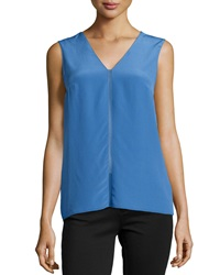 Bailey 44 Minimal Silk Blend Top Blue