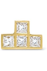 Ileana Makri 18 Karat Gold Diamond Earring
