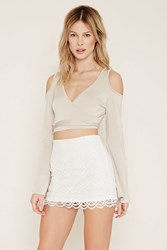 Forever 21 Chevron Patterned Mini Skirt