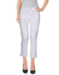 Guess Jeans Trousers 3 4 Length Trousers Women White