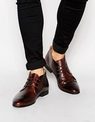 New Look Lace Up Formal Boots Mocha