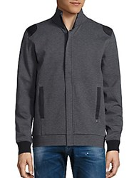 Revo Mockneck Long Sleeve Jacket Dark Grey