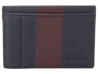 Jack Spade Striped Barrow Leather Id Wallet Navy Wine Wallet Handbags Multi