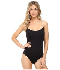 Michael Michael Kors Chain Solids Classic One Piece Black Women's Swimsuits One Piece