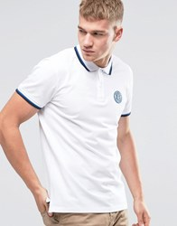 Jack And Jones Twin Tipped Embroidered Polo White