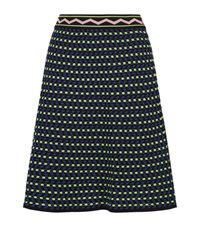 M Missoni Dot Knit Skater Skirt Female Multi