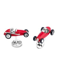 Deakin And Francis Racing Car Cuff Links Silver