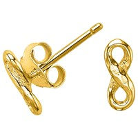 Dower And Hall Entwined Infinity Stud Earrings Gold