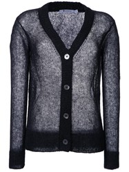 Alexander Wang T By Sheer Knit Cardigan Black