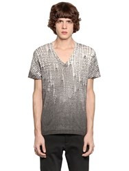 Just Cavalli Gradient Printed Cotton Jersey T Shirt