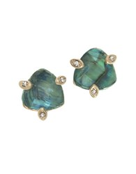 Lonna And Lilly Crystal Stud Earrings Blue