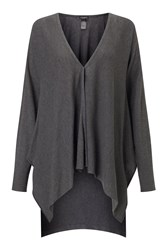 James Lakeland Side Drape Cardigan Grey