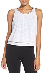 Alo Yoga Women's 'Spirit' Ladder Trim Crop Tank White