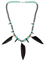 Tina Lilienthal London Powwow Warrior Feather Necklace