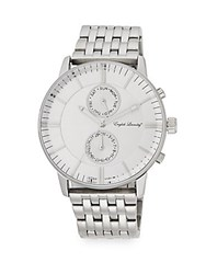 English Laundry Stainless Steel Link Bracelet Watch Silver