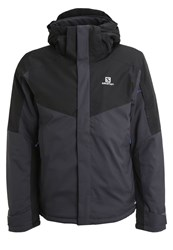Salomon Stormseeker Ski Jacket Asphalt Black Anthracite