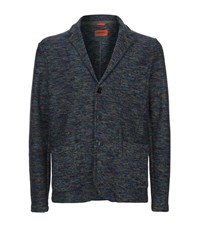 Missoni Patch Pocket Knitted Blazer Male Blue