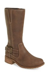 Uggr Women's Ugg 'Langton' Moto Boot Chocolate Nubuck Leather