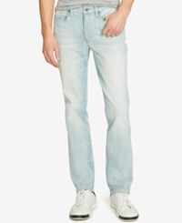 Kenneth Cole Reaction Men's Straight Fit Stretch Light Indigo Jeans