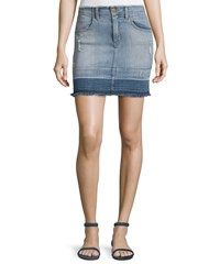 J Brand Jeans Lela Denim Mini Skirt Drift Blue