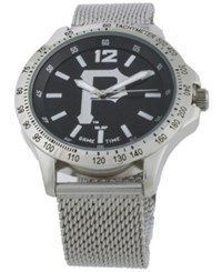 Game Time Pittsburgh Pirates Cage Series Watch Silver Black