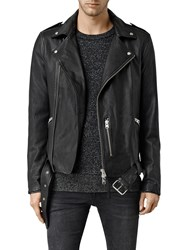 Allsaints Kahawa Leather Biker Jacket Black