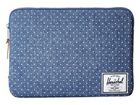 Herschel Anchor Sleeve 13 Limoges Crosshatch White Polka Dot Computer Bags Blue