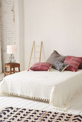 Urban Outfitters Tufted Dot Coverlet White
