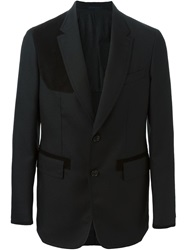 Cerruti 1881 Paris Shoulder Patch Blazer Black