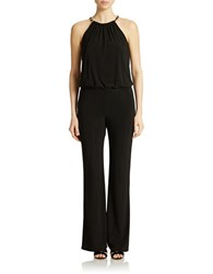 Laundry By Shelli Segal Chain Trimmed Jersey Jumpsuit Black