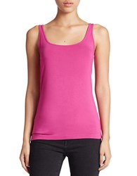 Lord And Taylor Stretch Roundneck Tank Festival Fuchsia