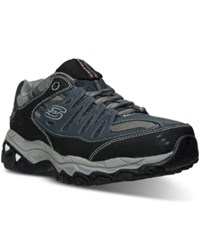 Skechers Men's After Burn Memory Fit Wide Width Training Sneakers From Finish Line Navy