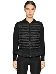 Moncler Budin Wool Knit And Nylon Jacket