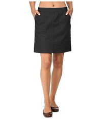 Prana Kara Skirt Charcoal Dots Women's Skirt Black